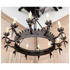 Vintage Wrought Iron Chandeliers Vintage Wrought Iron Chandelier Inessa Stewarts Antiques