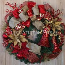 Designer Decorated Christmas Wreaths by 162 Best Christmas Wreaths Swags Images On Pinterest Winter