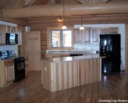 Hickory Kitchen Cabinets Kitchen Cabinets And Counter Tops Cowboy Log Homes