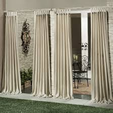 Outdoor Curtain Fabric by Enchanting Cream Outdoor Curtain Panels With Furniture And Natural