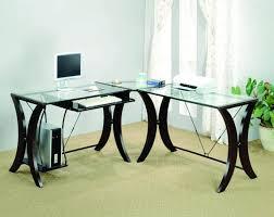 Glass Corner Computer Desks For Home Corner Computer Desks Glass Top Home Design Ideas New Corner