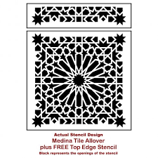 moroccan tile stencils moroccan designs for walls and floors