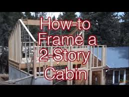 how to build a two story house how to frame a simple 2 story cabin addition youtube