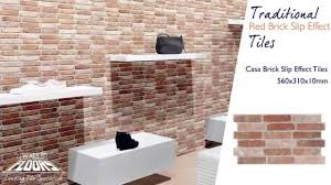 casa brick effect traditional red brick slip effect tiles