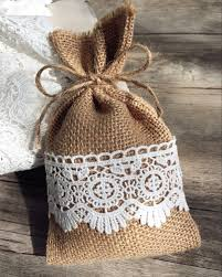country wedding favors burlap and lace wedding favors rustic diy gift bags ewfb068 as low