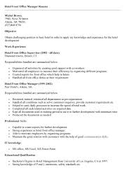Sample Resume For Hotel by Gallery Creawizard Com All About Resume Sample