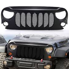 jeep wrangler front grill upgrade beast grille front grill grille w mesh jeep wrangler 2007