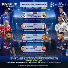 Jadwal Liga Chion Pertandingan Liga Chions Uefa Chions League 21 22 Februari