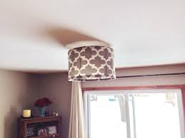 Ceiling Lamp Shades Diy Drum Shade 5 Steps With Pictures