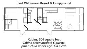 cabin layouts the cabins at disney s fort wilderness resort
