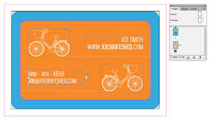 Bicycle Business Cards Create A Die Cut Business Card For A Local Client In Adobe Indesign