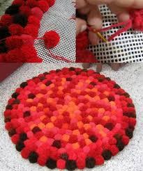 Pom Pom Rug Instructions 20 Best Pompom Images On Pinterest Pom Pom Rug Pom Poms And Carpets