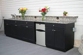 Outdoor Cabinets And Countertops Kitchen Cabinets Grey Quartz Countertops With Outdoor Kitchen
