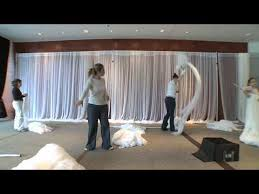 Sheer Draping Wedding The Retreat Sheer Fabric On A Grand Scale Youtube