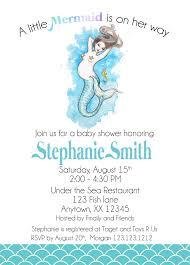 mermaid baby shower invitations mermaid baby shower invitation invitetique