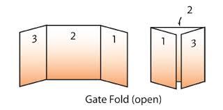 gate fold brochure template printing company inc glossary