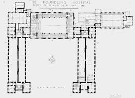 plate 14 foundling hospital first floor plan british history