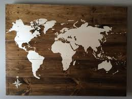 wall decor made of wood wall designs wooden world map wall made painted