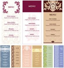 simple menu template free restaurant menu card templates free hotels