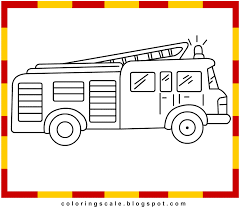 coloring pages printable kids fire engine coloring pages kids