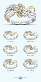 mothers day birthstone rings stacking rings mothers ring with initial and birthstone