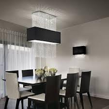 pendelleuchte design design pendelleuchte 5 flammig schwarzer stoffschirm kristall