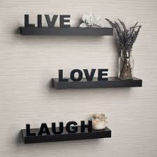 live laugh love home decor danya b laminate live love laugh inspirational wall shelves set