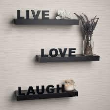 danya b laminate live love laugh inspirational wall shelves set