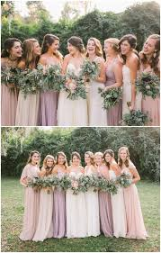 blush colored bridesmaid dress 10 best combinations for mismatched bridesmaid dresses