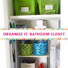 organize it bathroom closet the house on hillbrook