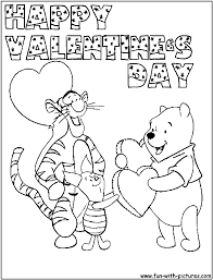 valentines day blank hearts coloring page with valentine heart