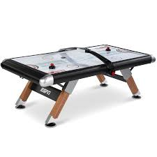 air powered hockey table espn belham collection 8 ft air powered hockey table with overhead