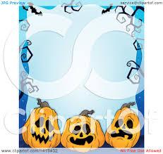 clipart of a halloween background border frame of jackolantern