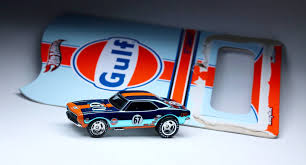 gulf racing wheels rlc gulf racing u002767 camaro unpackaging youtube