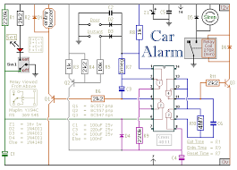alarm and immobilizer electronic circuit diagram