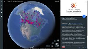 map erth mapping canada s history of residential schools with earth