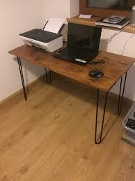 industrial hairpin leg desk vintage industrial hairpin leg desk in peterhead aberdeenshire