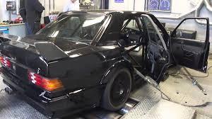 mercedes benz 190e evolution ii dyno run at beek auto racing