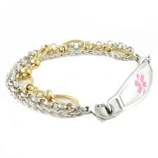 personalized gold bracelets custom id bracelet gold alert bracelets for women n