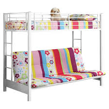kids twin over futon bunk bed metal saracina home target