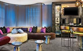 w hotel living room extreme wow suite w chicago city center hotel