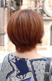 pictures of back view of short auburn bob hairstyle