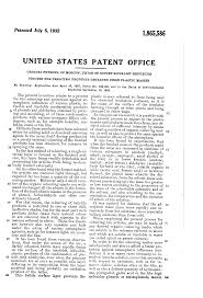 patent us1865586 process for treating products obtained from