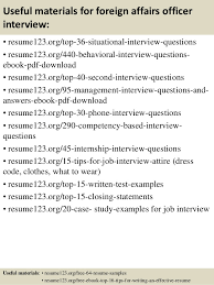Sample Resume For Abroad Job by Top 8 Foreign Affairs Officer Resume Samples