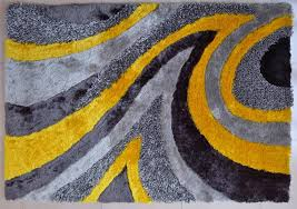 Gray And Yellow Rugs Shag Area Rug Grey Yellow 26