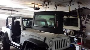 jeep hardtop removal roof rack hoist for garage