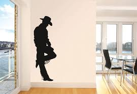 cowboy 2 wall decal decor wild west home decoration