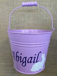 easter buckets monogrammed metal easter especially for you