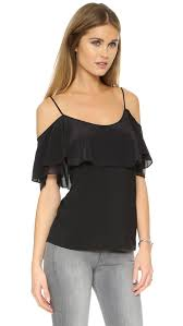 shoulder blouse lyst ella moss shoulder blouse in black
