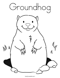 Groundhog Coloring Page Twisty Noodle Groundhog Color Page